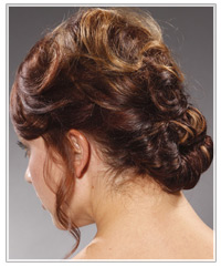 Back shot of easy updo hairstyle